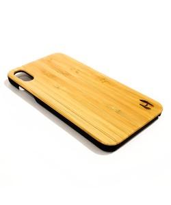 Echt houten hardcase hoesje iPhone Xs Max - Bamboe