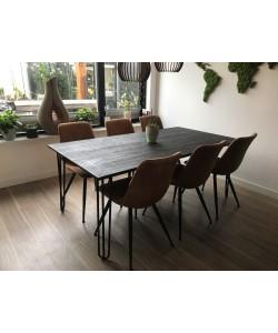 Hoentjen Creatie, zwart eikenhouten design eetkamer tafel